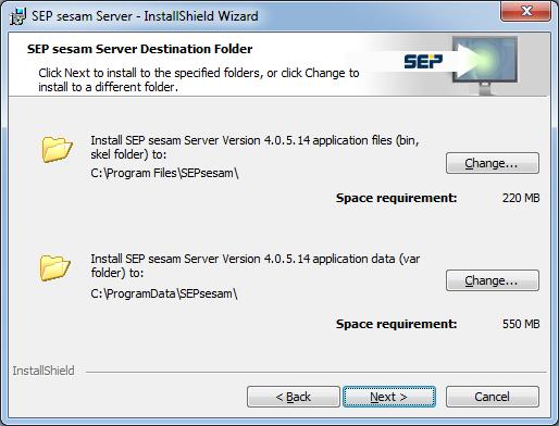 4 4 3:SEP sesam Quick Install Guide - SEPsesam