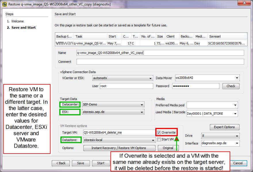 4 4 3:VMware Restore - SEPsesam