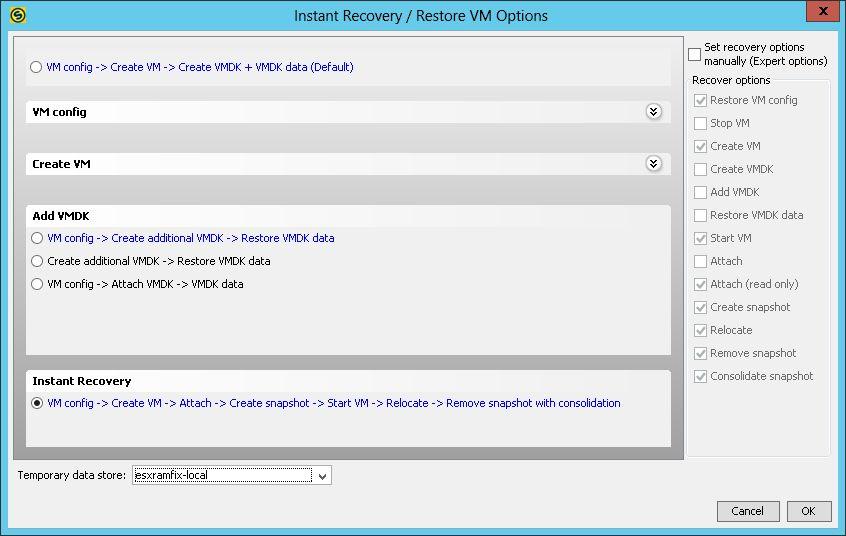 Archive:Instant Recover from VMware vSphere Backup - SEPsesam